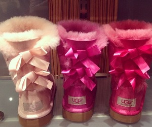 pink, uggs, and ugg image