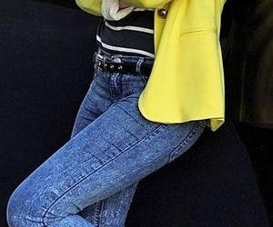 camera, jeans, and outfit image