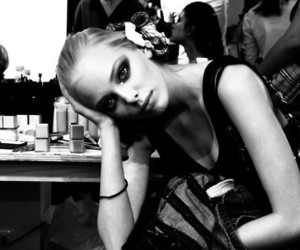 model, black and white, and fashion image