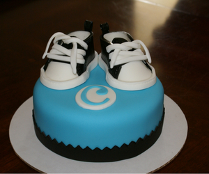 baby boy, cake, and converse image