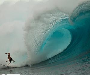 big wave, fresh, and sea image