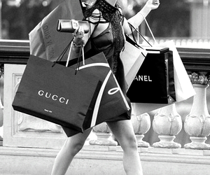 gucci, chanel, and shopping image