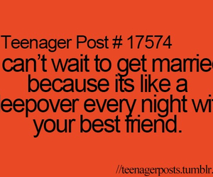 sleepover, teenager post, and marriage image