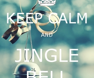christmas, jingle bell, and keep calm image