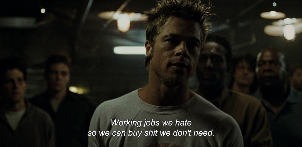 quotes, brad pitt, and fight club image