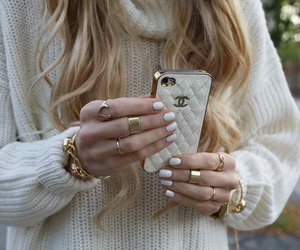 blonde, chanel, and iphone image