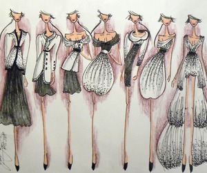 fashion, Couture, and drawing image