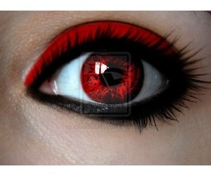 contacts, red, and red eyes image