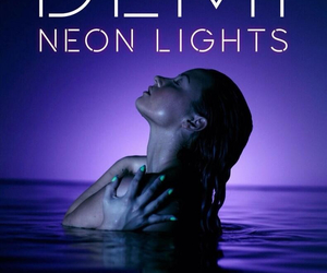 demi lovato, neon lights, and demi image
