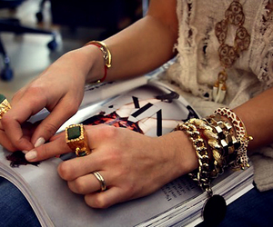 fashion, bracelet, and rings image