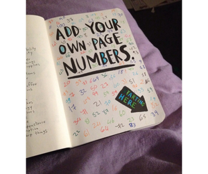 colours, numbers, and page image