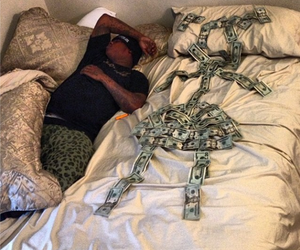 hustler, dollars, and in bed image