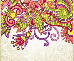 background, ornate, and flower image