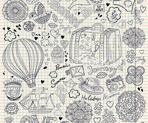 diary, doodle, and explore image