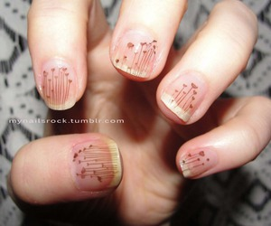 brown, nails, and cute image