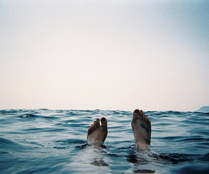 blue, summer, and feet image