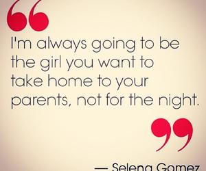 quote, selena gomez, and night image