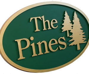 outdoor wood signs, tree signs, and tree sign image