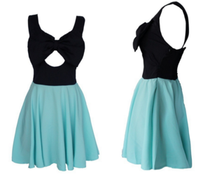 bow, cutout, and dress image