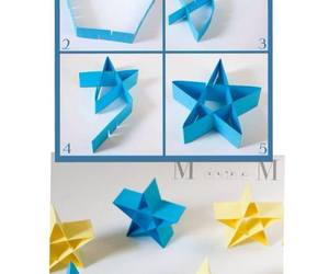 diy, folded paper, and paper stars image