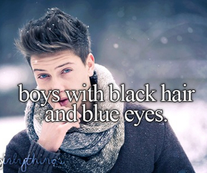 boy, blue eyes, and black hair image