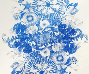 blue, illustration, and pattern image