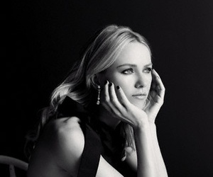 beauty, black and white, and portrait image