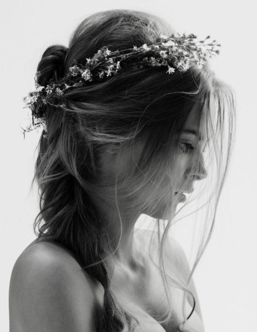 beautiful, hairstyle, and black and white image