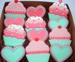 Cookies, pink, and cupcake image