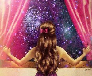 girls, hair, and window image
