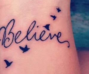 believe, tattoo, and bird image