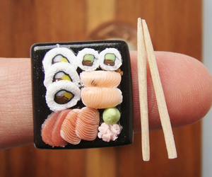 sushi and miniature food image