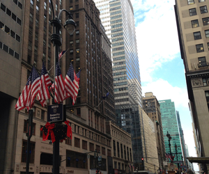 avenue, flag, and new york image