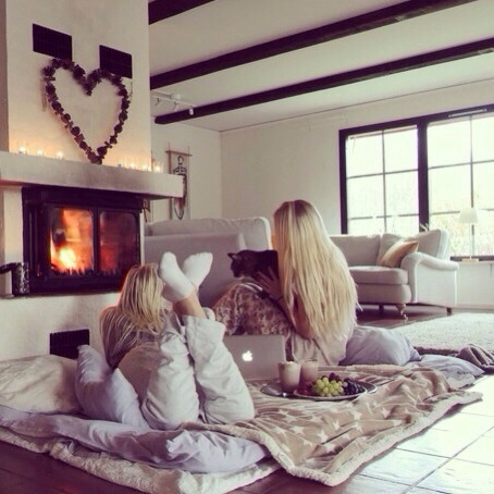 friends, blonde, and winter image