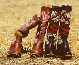 boots, ethnic, and fashion image
