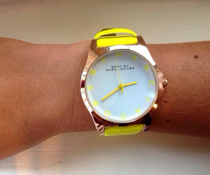 watch, yellow, and marc jacobs image