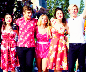 maia mitchell, ross lynch, and grace phipps image