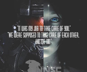 halo, cortana, and master chief image