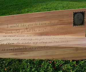 bench and Letter image