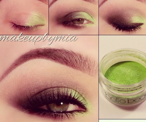 diy, eyes, and green image