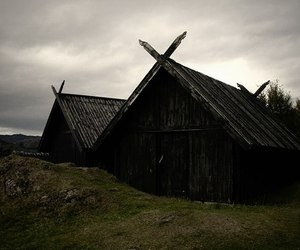 house, norway, and village image