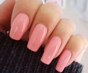 nails, pink, and girly image