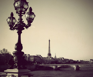 paris and black and white image