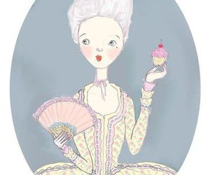 cupcake, art, and marie antoinette image