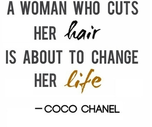 coco chanel, hair, and life image