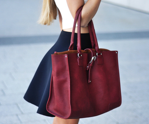 skirt, bag, and blue image