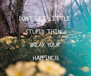 quote, happiness, and flowers image