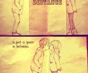 love, distance, and kiss image