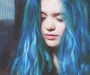beautiful, blue, and hairstyle image