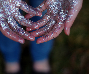 glitter, hands, and shine image